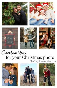 Creative ideas for your Christmas photo or Christmas photo card - 31 days to take the stress out of Christmas