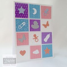 """Tent fold card Using the """"Little Angel"""" Sara Davies Signature Collection dies Designed by Kim Wilkin #crafterscompanion"""