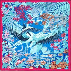 b4f2b427623 Flamingo Party Hermes silk twill scarf