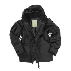 c160056452a549 Mil-Tec ECWCS Jacket with Fleece Black size L     Click image for