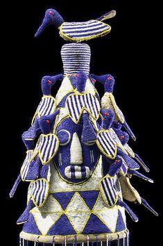 Yoruba Beaded Crowns, Nigeria #Africa #African #Yoruba