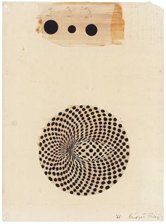 Bridget Riley, Untitled (Study for Circular Movement), (1961)