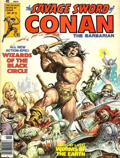 Pencil Ink: a blog featuring golden, silver and bronze age comic book art and artists: Savage Sword of Conan #16 - Barry Windsor Smith, Walt Simonson art
