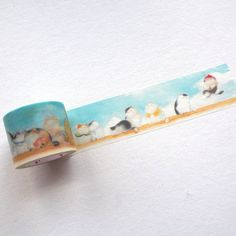 Cats Illustration Masking TapeThe illustration of the cute cats live in the Royal Palace.Width: washi paper, adhensivePattern repeats every Masking Tape, Washi Tape, Cute Cats, Birds, Japanese, Illustration, Pattern, Duct Tape, Pretty Cats