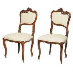 Conjunto com 2 Cadeiras Luis XV