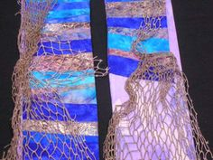 Clergy stole with actual fishing net. Hey, my friend Karin made this! Falls Church, Church Banners, Altar Decorations, Worship, Fishing, Crafty, Sewing, Creative, Summer