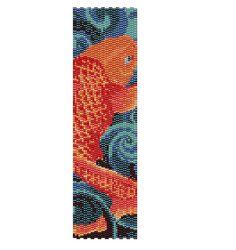 Dies ist ein Muster, die mit 12 Farben in einem doppelten Peyote-Stich. Er misst 1,91 x 6,99 . Bitte respektieren Sie die Rechte des Designers.
