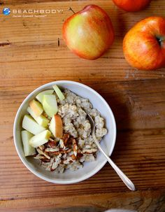 Sweet and simple, this is the oatmeal that starts a thousand good days. #apples #breakfast #nuts #oatmeal #oats #recipes