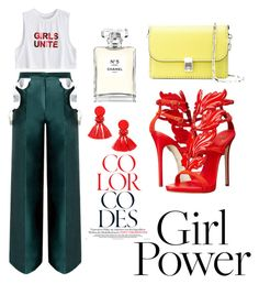 """#GirlPower"" by lajollaaa on Polyvore featuring Giuseppe Zanotti, Chanel and Valentino"