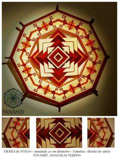 Mandala tejido de 8 puntas, 50 cm de diametro, bordado a Mano- visitanos en https://www.facebook.com/paula.panambi
