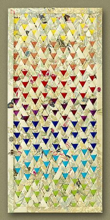 Butterfly Woven paper quilt by Mary Roach-Bailey Graphic Designer | Illustrator | Fine Artist
