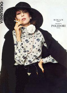 Anjelica Huston in Italian Vogue