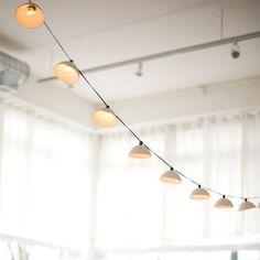 Porcelain Pleated String Lights   featured at Makersmarket.us