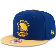 Adult New Era Golden State Warriors Solid A-Frame 9FIFTY Snapback Cap ($28) ❤ liked on Polyvore featuring men's fashion, men's accessories, men's hats, multicolor, mens caps and hats and mens snapback hats
