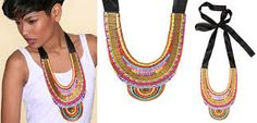 Image result for fabric necklace