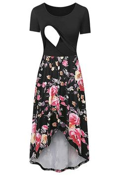 The women pregnant maternity dresses nursing solid breastfeeding maternity dress is so casuala nd loose you will like it. #maternitydress #maternitydressescasual #pregnancystyle #pregnancystylesummer #pregnancyoutfits #summerpregnancyoutfits #breastfeedingdress