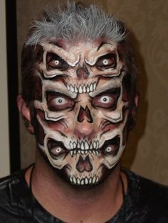 cool halloween makeup skull face makeupskull face paintskeleton - Halloween Skull Face Paint Ideas