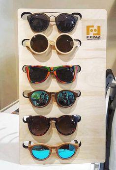 OCCHIALI DA SOLE montatura in legno/bambù/sughero/pietra, lenti Zeiss.  SUN GLASSES wooden/bambù/cork/stone frame, Zeiss lenses.