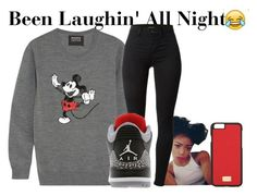 """Laughin'~~"" by be-you-tiful-flower ❤ liked on Polyvore featuring Markus Lupfer, J Brand, Retrò and Dolce&Gabbana"