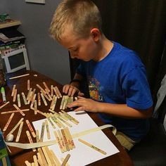 Working hard to put the Bible books in order. For family worship write all the Bible books on Popsicle sticks, mix them up and then put them back in order. Not as easy as you might think! (Credit: @tinamaria00) http://MinistryIdeaz.com/Downloads