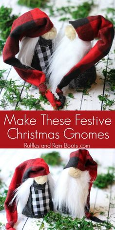 These rustic DIY Christmas gnomes are a perfect project to add holiday cheer to your home, gift, or tree. Click through to get started. Cheap Christmas, Christmas Sewing, Christmas Gnome, Christmas Projects, Simple Christmas, All Things Christmas, Handmade Christmas, Christmas Ornaments, Christmas Ideas