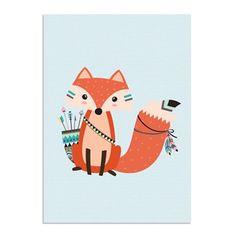 Kinderkamer poster - Babykamer - Decoratie - Vos Poster - Vosje - A2 formaat - DesignClaud