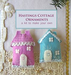 hastings cottage ornament kit by charlottelyons on Etsy