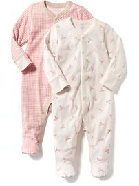 Patterned One-Piece 2-Pack for Baby