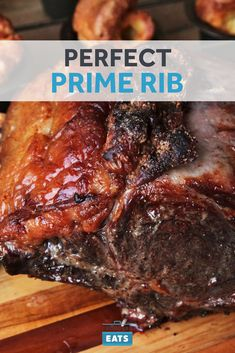 Reverse-sear your way to the best prime rib. A low and slow start delivers perfectly evenly cooked medium-rare doneness all the way from edge to center. Blasting the prime rib with heat just before serving gives you a crackling-crisp, browned crust. Prime Rib Recipe Oven, Boneless Prime Rib Recipe, Cooking Prime Rib Roast, Ribs Recipe Oven, Slow Roasted Prime Rib, Beef Rib Roast, Cooking A Roast, Roast Brisket, Best Prime Rib Recipe Ever