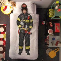 Fireman Duvet Cover Set