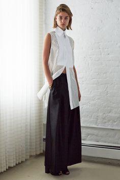 eleanor sleeveless bib shirt . solar cropped culotte