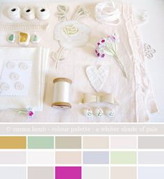 colour palette : a whiter shade of pale by emma lamb (a wee bit behind), via Flickr