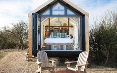 Skip the staycation crowds and camp out at these rural beauty spots Off Grid Tiny House, Tiny House Living, Shed Windows, Landscape Arquitecture, Gate House, Nature Reserve, Interior S, Prefab, Architecture Details