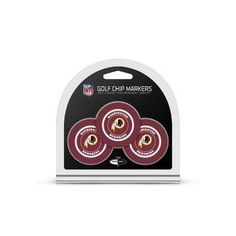 Washington Redskins Golf Chip with Marker 3 Pack
