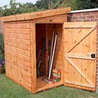 6' x 4' (1.83x1.22m) Traditional Pent Tool Store Shed
