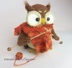 Shalette la Chouette amigurumi PDF crochet pattern par Nowacrochet
