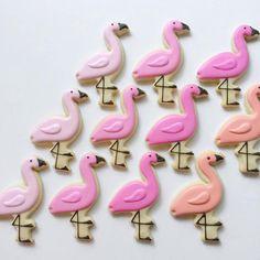 Holly Fox flamingo cookies
