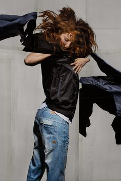 G-Star RAW Spring/Summer 2014 Campaign - Lily Cole shot by Phil Hale