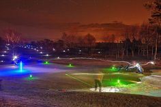 Get the golf game glowing! Badminton Birdie, Golf Ball, Golf Courses, Glow, Night, Games, Sports, Travel, Hs Sports
