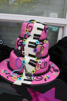 Girls Karaoke Birthday Cake