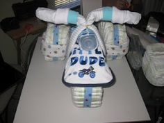 Easy to make Baby Shower Gift - Diaper Tricycle