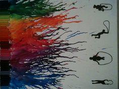crayon silhouette