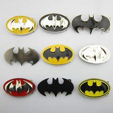 Batman symbol belt buckles - cool!