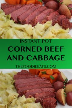 Nothing says Irish comfort food like corned beef and cabbage! Your Instant Pot or pressure cooker with thank you. Happy St. Patrick's Day! via @thefoodieeats