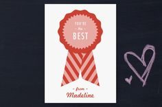 You're the Best Classroom Valentine's Day Cards by b.wise papers at minted.com
