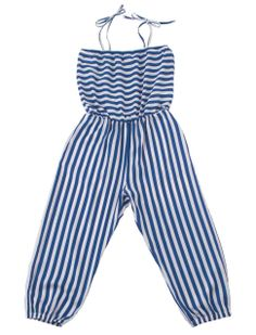 Striped girls jumpsuit from Il Gufo in nautical style