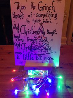 Easy and adorable Christmas DIY of a 'The Grinch' quote! Simply perfect.