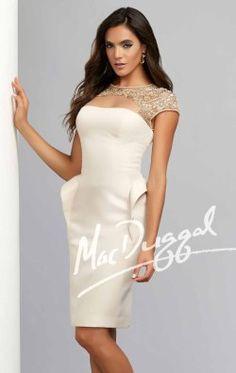 Beaded Sheer Dress by Mac Duggal Evenings 93512C