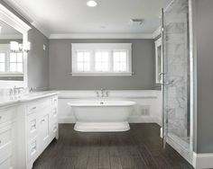 Master bath. Like the gray wall with the white.