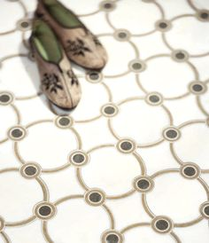 Nadeau Collection waterjet design with Calacata marble from Italy!